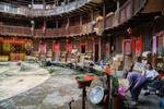Inside a tulou there